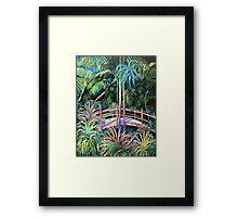 Japanese Bridge Tamborine Mountain Botanical Gardens Framed Print