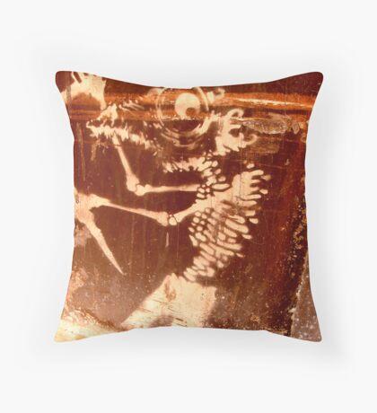 Borrowed art 2 : Killer Fish Throw Pillow