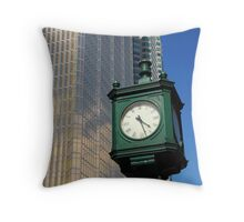 City clock Throw Pillow
