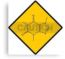 Chemistry Caution Signs Caffeine Canvas Print