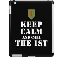 KEEP CALM AND CALL THE 1ST iPad Case/Skin