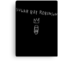 Jean Michel Basquiat's Sugar Ray Robinson Canvas Print
