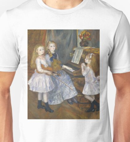 Auguste Renoir - The Daughters Of Catulle Mendes, Huguette, Claudine And Helyonne, 1888 Unisex T-Shirt