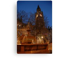 Manchester by Night Canvas Print