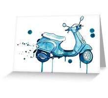 Scooter Away Greeting Card