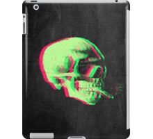Van Gogh Skull with burning cigarette remixed iPad Case/Skin