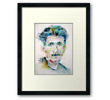GEORGE ORWELL - watercolor portrait Framed Print