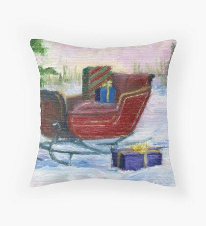 Sleigh Throw Pillow