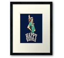 Happy Wheels Framed Print