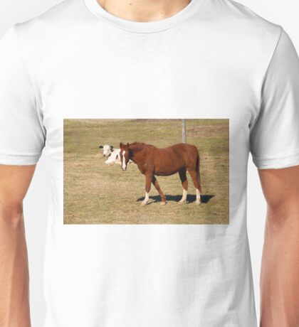 Horse And Cow Unisex T-Shirt