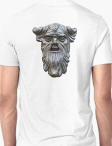 Hard faced, Knocker face, bronze door knocker, white Unisex T-Shirt