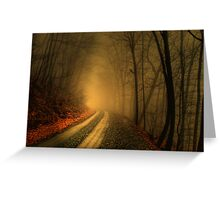 Foggy Wood Greeting Card