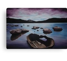 Broken Vessel over Calm Water Canvas Print