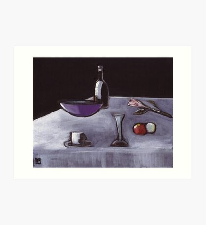 Still life( from my original acrylic and pastel painting) Art Print