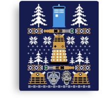 Doctor Who Ugly Sweater Canvas Print