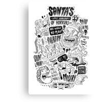 Santa's Little Workshop of Horrors Metal Print
