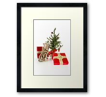 Christmas Kitten Framed Print