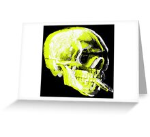 Van Gogh Skull with burning cigarette remixed x Greeting Card