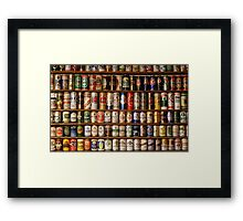 Beer Can collection Framed Print