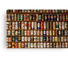 Beer Can collection Canvas Print