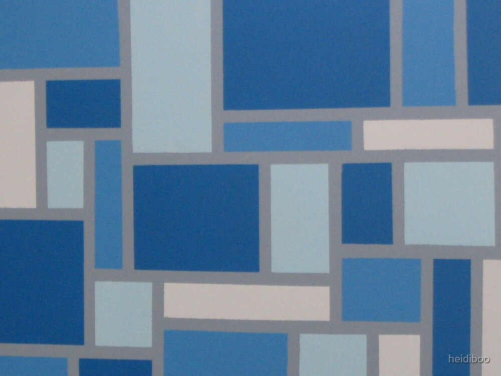 Blue Squares by heidiboo