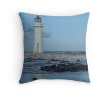 First Waves of Winter Throw Pillow