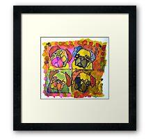 Lisa's Pugs 1 Framed Print