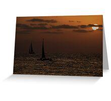 Black sails Greeting Card