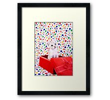 Birthday Party Kitten Framed Print