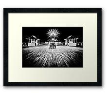 Cromer Pier at Night Framed Print