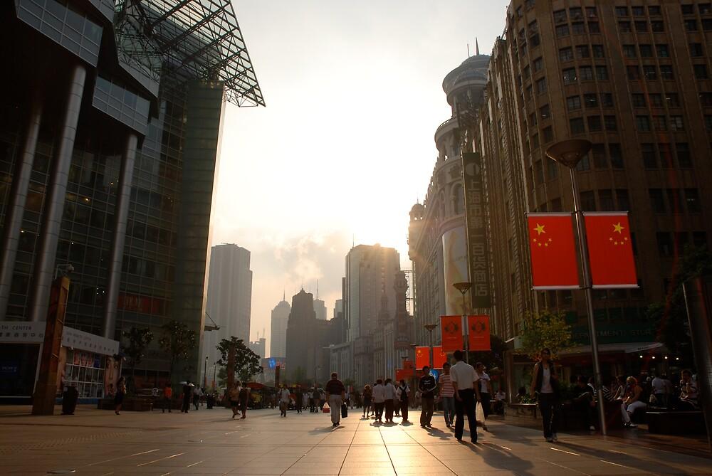 Nanjin Road, Shanghai by Rudolf