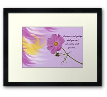 Thought For Today Framed Print
