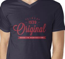 Since 1939 Original Aged To Perfection Mens V-Neck T-Shirt