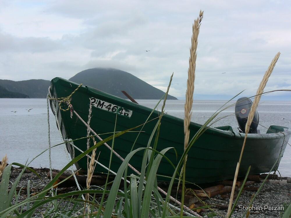Green boat by Stephen Perzan