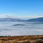 Islands in fog. Blackstairs Mountains from Brandon Hill by Andrew Jones