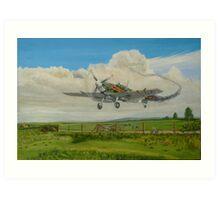 Spitfire's Safe Return  Art Print