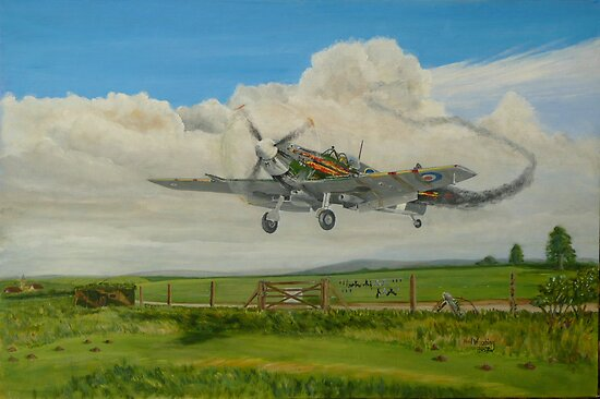 Spitfire's Safe Return  by Woodie