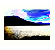 Colour Experiment 1- Tralee Bay Art Print