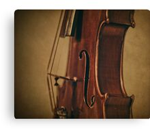 Violin Profile Canvas Print