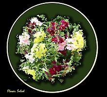 Flower Salad, 24x24 $165.00 by studio20