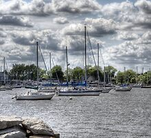 Sail boats by Mike  Savad