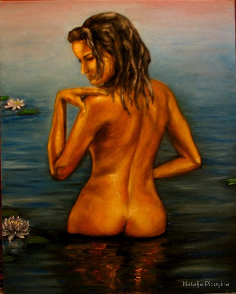 The Nude Swimming oil painiting by Natalja Picugina