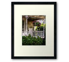Porch Detail Framed Print