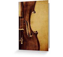Violin Portrait Greeting Card