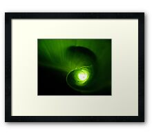Tunnel of Light Framed Print