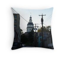 Old Towne Annapolis  Throw Pillow