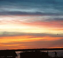 Sunset at Chincoteague Island,Va by Teri1963