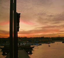 Sunset over the Medway by brummieboy