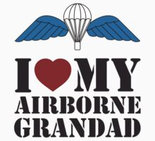 I LOVE MY AIRBORNE GRANDAD One Piece - Short Sleeve