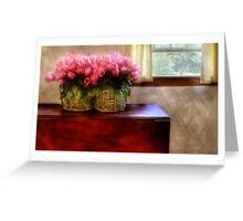 Tulips by a Window Greeting Card